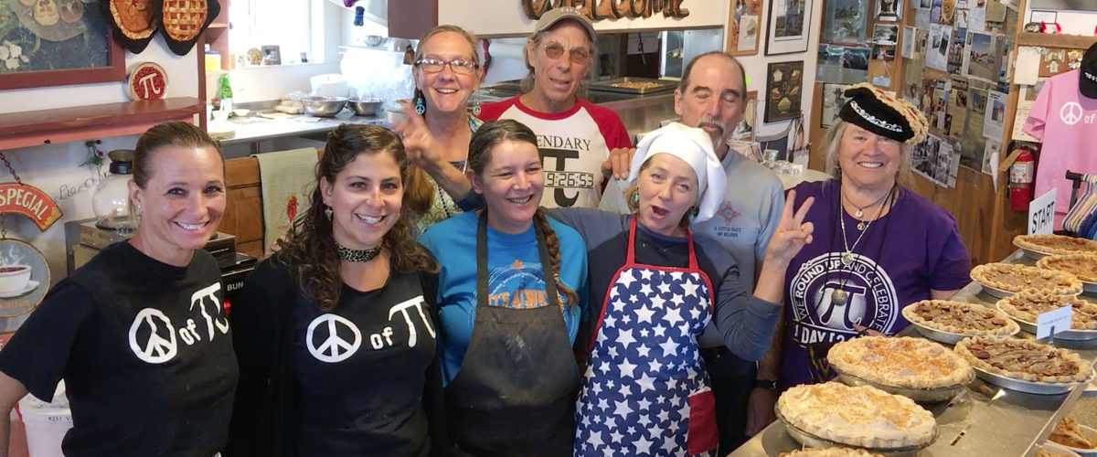The Staff at the Pie-O-Neer on Pi Day, 2016